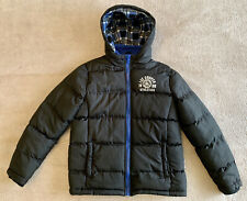 Lee Cooper Black Padded Puffer Bubble Jacket With Hood Boys Size 11-12 Yrs