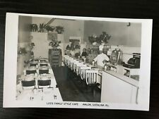 PCb48 Leo's Family Style Cafe Avalon, Catalina Island Vintage Postcard Photo