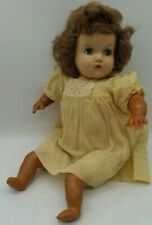 "Horsman Doll Vintage Composition Cloth Rubber Auburn Mohair Smoky Blue Eyes 16"""
