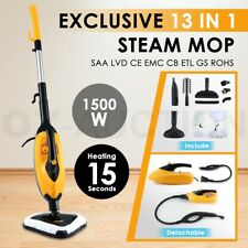 13 in 1 Foldable Steam Mop Handheld Steamer Cleaning Cleaner Floor Carpet 1500W