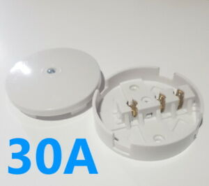30A Amp Junction Box Mains UK Electrical 3 Terminal White Connector