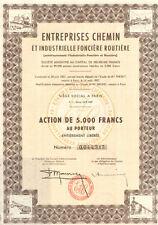 Entreprises Chemin et Industrielle Fonciere Routiere > Paris France certificate