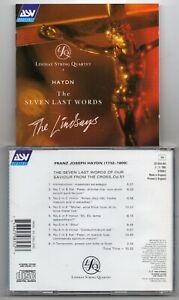 Haydn - The Seven Last Worlds  - Lindsay String Quartet  (CD 1993)