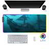 LED Gaming Mauspad Ocean pirates ship RGB XXL Groß Mausunterlage PC Mat Mousepad