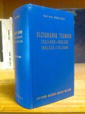Renzo Denti - DIZIONARIO TECNICO ITALIANO - INGLESE - ITALIANO - 1970