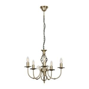 MiniSun Ceiling Light - Traditional 5 Way Chandelier Twisted Design LED Bulbs A+