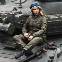 1/16 Resin Figure Model Kit Russia Sexy Girl Modern Infantry no Tank Unpainted