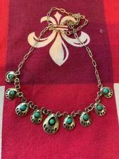 """Turquoise Bear Claw 17"""" Necklace"""