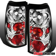 For 2003-2006 Chevy Silverado 1500 2500 Clear Lens Tail Lights Brake Lamps Pair