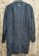 White Stuff ladies cardigan/ open knit dusk blue wool/cashmere blend size 10