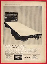 "Old Truck Advert ~ Dennis Brothers - Pax V 6-wheel Low-loader - ""City Ales"" 1964"