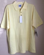 WRANGLER  EASY CARE POLO SHIRT COLOR YELLOW  LARGE TWIST FREE COMFY Very SOFT
