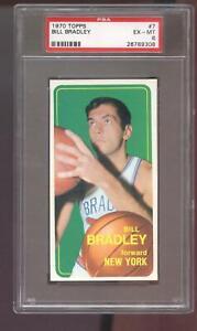 1970-71 Topps #7 Bill Bradley PSA 6 Graded Basketball Card 1970 New York Knicks