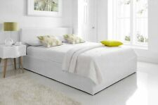 Faux Leather Ottoman Storage Bed Plus Mattress Options In White, Black Or Brown