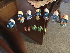 Lot of 12 Smurfs/Smurfettes & pets - so cute!!