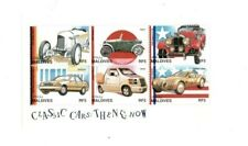 VINTAGE CLASSICS - MALDIVES 9706 - Classic Cars - Sheetlet of 6 Stamps - MNH