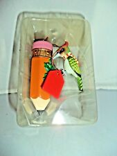 Enesco Woodpecker Treasury of Christmas Ornament - Merry Christmas Teacher Gift