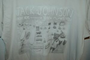 jack johnson rare t shirt mens large from here to now to you