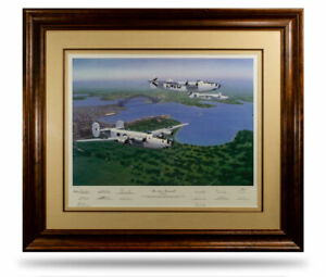 WW2 RAAF B24 Liberator Limited Edition Military Aviation Art Print Signed