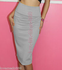 NEW Womens Casual Wear to Work Party Stretch Tight Fit Pencil Skirt Dress MEDIUM