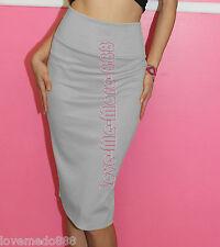 Womens Wear to Work Party Stretch Celebrity Pencil Midi Knee Skirts Dress Small