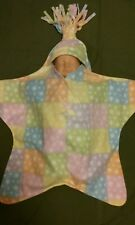 FLEECE STAR BABY BUNTING, Pastel Blocks with Stars, Handcrafted