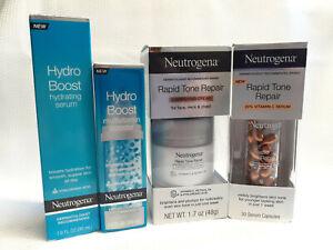 Neutrogena Hydro Boost Rapid Tone Repair Bundle Pack Correcting Cream Hyaluronic
