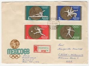 1969 Aug 4th. Registered Commemorative Cover. Budapest to Cologne, Germany.