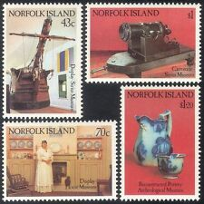 Norfolk Island 1991 Ship/Cannon/Ceramics/Jug/Museums/Transport 4v set (n18039)