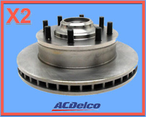 2 Disc Brake Rotor & Hub Assemblies ACDELCO Front L/R Replace GMC OEM # 19264689