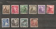 1938 ITALIA REGNO PROCLAMAZIONE IMPERO SERIE COMPLETA n. 93 USATI 10 VALORI