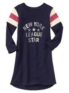 Gap Kids Girl Varsity hi-Lo Dress Navy Size XS (4-5) New With Tags