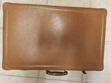 Valigia in cartone vintage anni '50 marrone! Perfetta e chiusura funzionante!