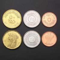 [A-3] Egypt Set 3 Coins, 5 25 50 Piastres, Random year, UNC
