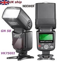 UK Neewer VK750 II i-TTL Flash Speedlite LCD Display GN58 for Nikon DSLR Cameras