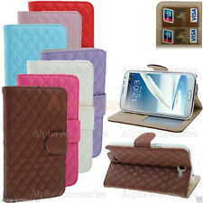 Case For Galaxy Note 2 Leather Wallet Stand Shockproof Flip Magnetic Book Cover