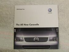 VW VOLKSWAGEN ALL NEW CARAVELLE TRANSPORTER UK SALES BROCHURE 2004 31 PAGES
