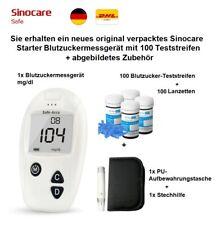 Sinocare Safe-Accu Blutzuckermessgerät mit 100 Teststreifen ähnl Accu Chek Aviva