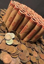 OLD WHEAT PENNY ROLLS SHOWING INDIAN HEAD MONEY ESTATE ROLLS COINS LOT CENTS $