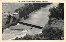 A40/ Blackwell Oklahoma Ok Postcard c1940s View of Diversion Dam Birdseye