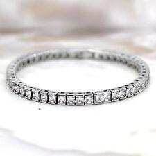 """Princess Cut Fine Luxury Diamond Bracelet Sterling Silver Party Bracelets 6.5"""""""