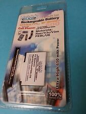 Digital Energy Rechargeable Battery For Motorola Razr V3C/V3m/PEBL/U6 #230-0355