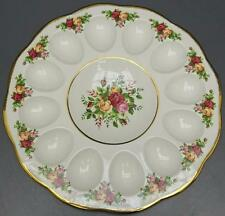 Royal Albert Old Country Roses Deviled  Egg Plate Dish Holds 12