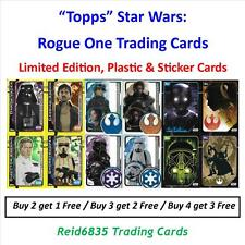"""Topps"" Star Wars: Rogue One Trading Cards - Limited Editions, Plastic & Sticker"