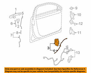 2006-2010 Buick Lucerne RH Side Front Door Lock with Actuator new OEM 20790492