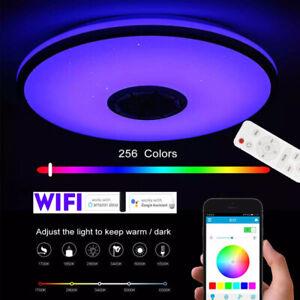 wifi + bluetooth RGB LED Deckenlampe Lautsprecher + Remote Dimmbar Deckenleuchte