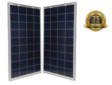 Brand New Two 100 W Watts 12V Polycrystalline Solar Panel Off Grid for RV Boat