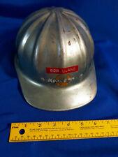 Superlite Fibre Metal Aluminum Hard Hat Construction Helmet Advertising VTG