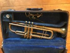 Vintage Beaufort American Trumpet Horn Chicago USA  #15456 w/ Mouthpiece Case