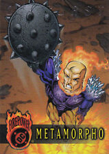 DC OUTBURST FIREPOWER ERROR CARD CRIMPED WRAPPER IMPRINT#8 METAMORPHO